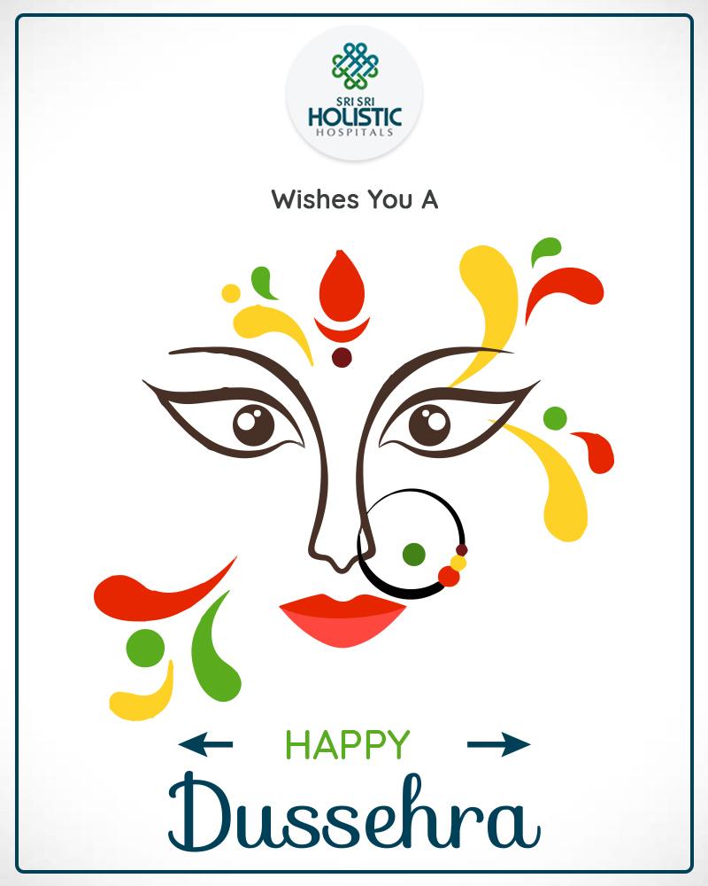 Sri Sri Holistic Hospital Wishes You A Peaceful & Happy Dussehra
