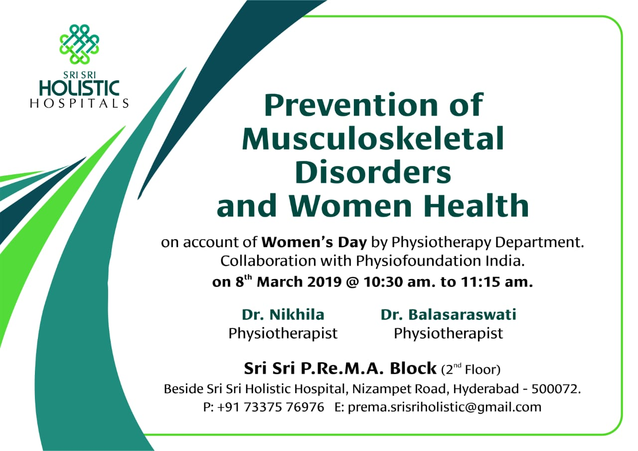 Prevention of Musculo Skeletal Disorders women's health