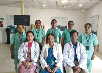 Dr.Alurivijayalakshmi with staff