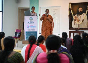 Dr.AluriVijayalakshmi garu giving speech
