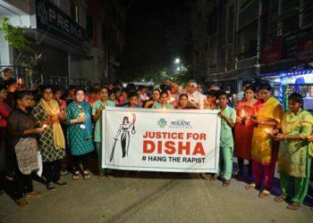 DrAluriVijayalakshmi in Justice for Disha rally